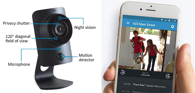 SimpliCam HD Security Camera connects with the best smart home security hubs