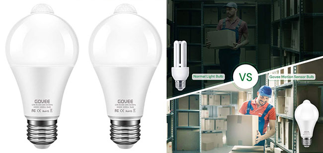 Govee motion detection smart light bulb