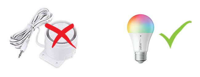 Skip alarms in apartments. Use a smart bulb instead