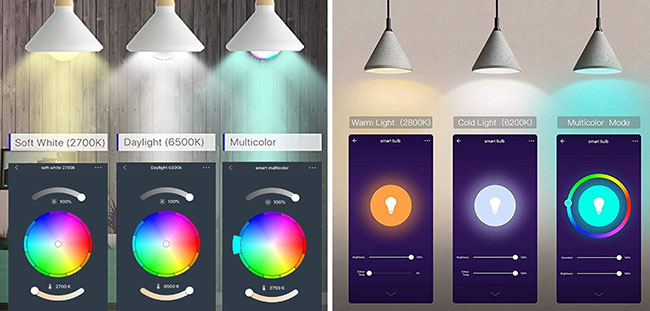 Smart LED light settings